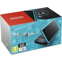 New Nintendo 2DS XL Black and Turquoise, Multi