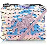 George Pink Sequin Unicorn Shoulder Bag