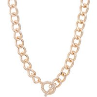 George Gold-Tone Chunky T-Bar Collar Necklace