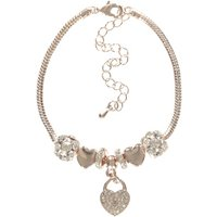George Tickled Pink Diamant © Heart Charm Bracelet - Gold
