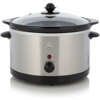 3L Slow Cooker - Stainless Steel, Silver