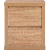 leighton bedside table  natural