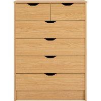 rupert chest of 6 drawers  oak effect