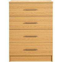 glenda chest of 4 drawers   oak effect finish