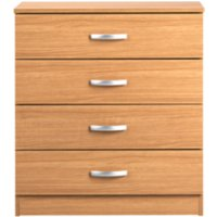 marlow wide 4drawer chest of drawers  natural