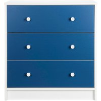 colour block 3drawer chest of drawers  blue
