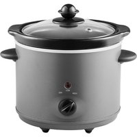 Grey Compact Slow Cooker, Grey