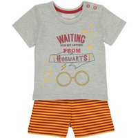 George Harry Potter T-Shirt and Shorts Outfit - Light Grey, Light Grey