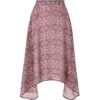 George Handkerchief Hem Paisley Skirt - Multi
