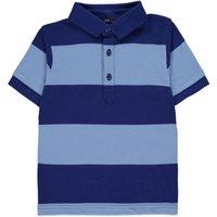 George Blue Striped Polo Shirt - Navy