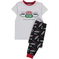George Friends TV Series Central Perk Pyjamas - White at Asda George