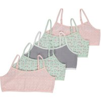 George Pink and Mint Green Floral Crop Tops 5 Pack - Multi