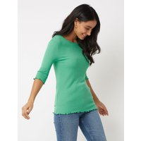 George Green Ribbed Lettuce Edge Top