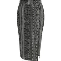 George Black Aztec Print Jersey Pencil Skirt