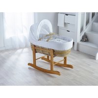 Kinder Valley White Wish Upon A Star Palm Moses Basket, White