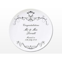 Ornate Swirl Plate - Personalised Gifts Gifts
