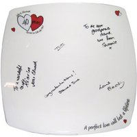 A Perfect Love Ruby Anniversary Message Plate - Ruby Wedding Anniversary Gifts