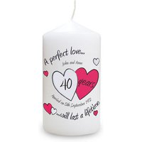 A Perfect Love Ruby Anniversary Candle - Ruby Wedding Anniversary Gifts