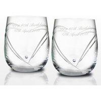 Swarovski Heart Whisky Glasses - Swarovski Gifts