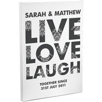 Live Love Laugh Canvas - Laugh Gifts