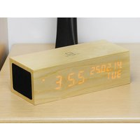 Oak Music Click Clock LED Orange - Music Gifts