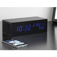 Black Music Click Clock LED Blue - Music Gifts