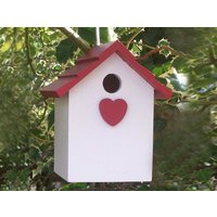 Handmade Hanging Red Heart Bird House - Handmade Gifts
