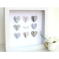 Silver Anniversary Paper Hearts - Anniversary Gifts