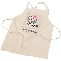 Personalised Queen Of The Kitchen Apron Picture