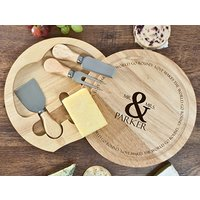Love Makes The World Go Round Cheese Board Set Picture
