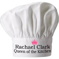 Personalised Queen Of The Kitchen Chef Hat Picture