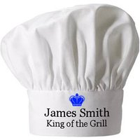 Personalised King Of The Grill Chef Hat Picture