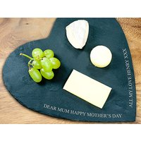 Personalised Heart Cheese Board Picture