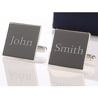 Personalised Square Silver Plated Cufflinks Picture