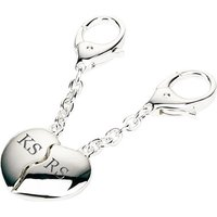 Personalised Silver Plated Joining Hearts Keyrings - Keyrings Gifts