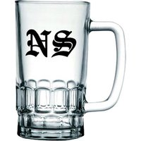Medieval Text Monogram Beer Glass Tankard - Beer Glass Gifts