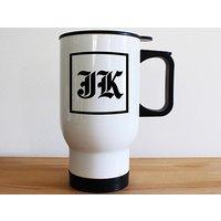 Medieval Initials White Travel Mug - Travel Gifts
