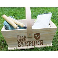 Personalised Head Gardener Trug - Gardening Gifts