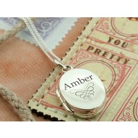 Ornate Personalised Oval Locket Picture