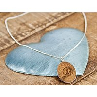 Personalised Sterling Silver And Wood Necklace Picture
