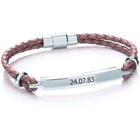Personalised Women's Leather Bracelet Picture