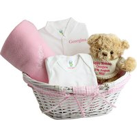 Pink Baby Basket - Pink Gifts