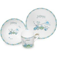 Train Bunting Breakfast Set - Train Gifts