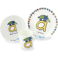 Bang On The Door Animal Alphabet Boys Breakfast Set - Boys Gifts