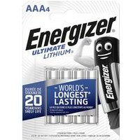Energizer L92 Ultimate Lithium Battery AAA Size 4 Pack (639171)