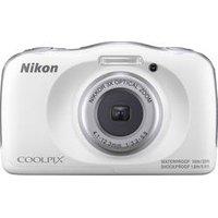Nikon W150 Digitalkamera 13.2 Megapixel Opt. Zoom: 3 x Weiß Wasserdicht, Staubgeschützt, Stoßfest, Bluetooth, Unterwasserkamera
