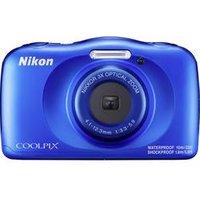 Nikon W150 Digitalkamera 13.2 Megapixel Opt. Zoom: 3 x Blau Wasserdicht, Staubgeschützt, Stoßfest, Bluetooth, Unterwasserkamera