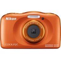 Nikon W150 Digitalkamera 13.2 Megapixel Opt. Zoom: 3 x Orange Wasserdicht, Staubgeschützt, Stoßfest, Bluetooth, Unterwasserkamera