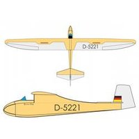 RC Segelflugzeug Pichler Grunau Baby Antik  ARF 2500*