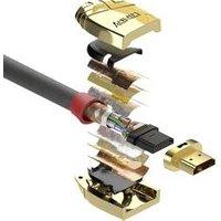 LINDY HDMI Câble de raccordement [1x HDMI mâle - 1x HDMI mâle] 20 m gris (37868)